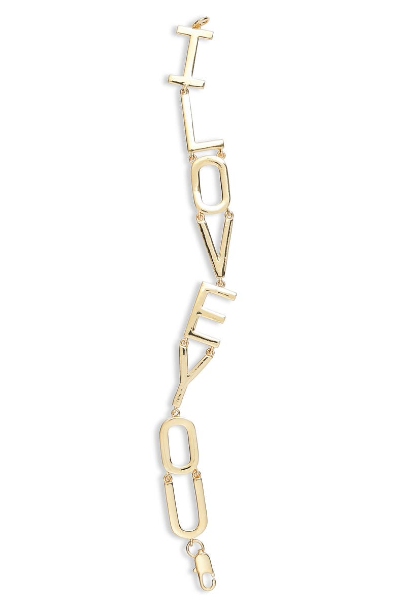 LISA FREEDE I Love You Bracelet, Main, color, 710