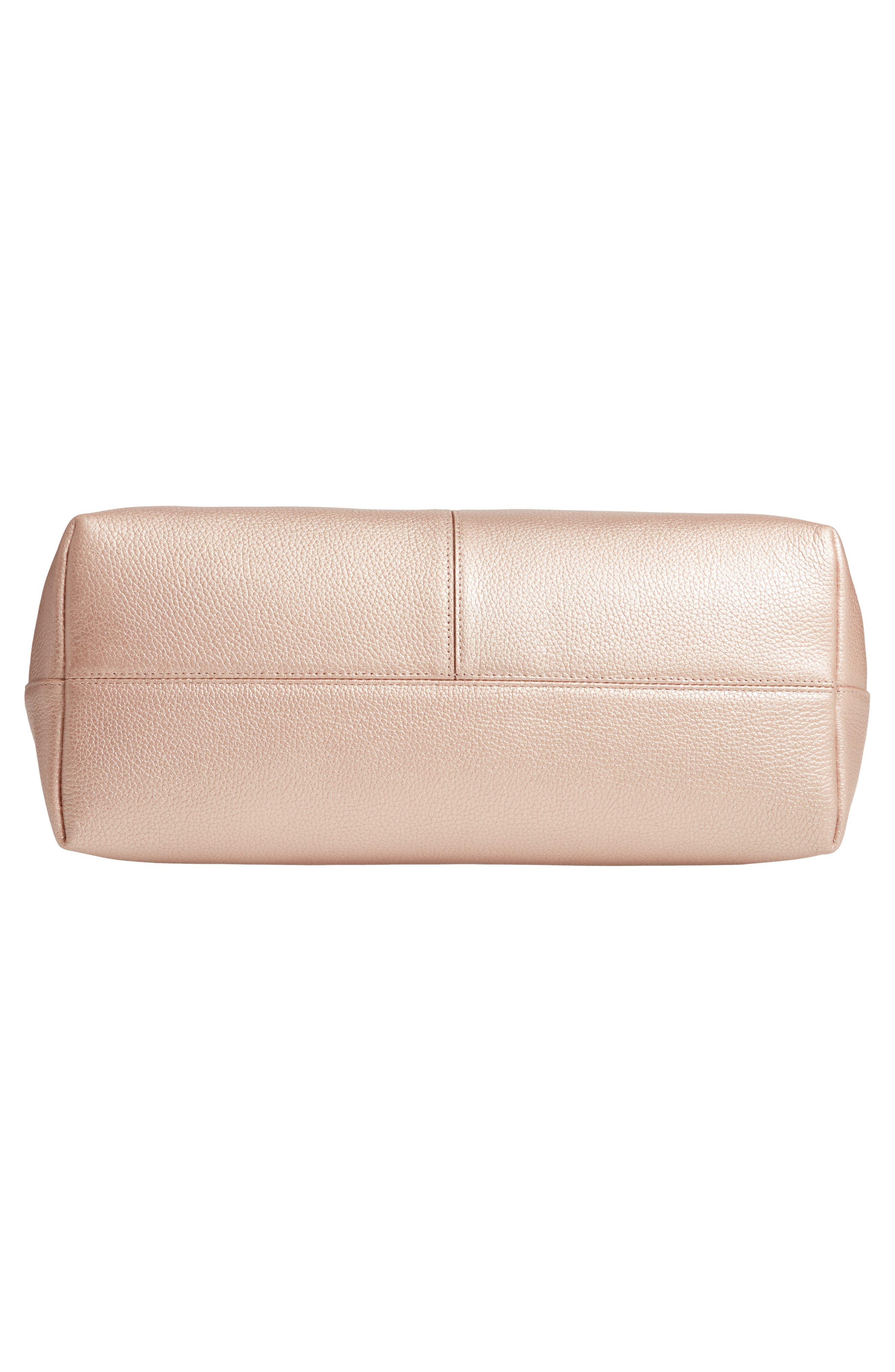 ,                             Lexa Pebbled Leather Tote,                             Alternate thumbnail 7, color,                             ROSE GOLD