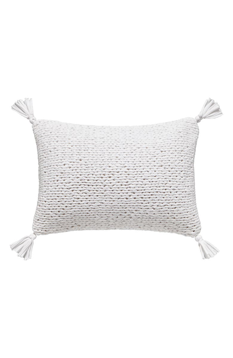 SPLENDID HOME DECOR Knit Accent Pillow, Main, color, WHITE