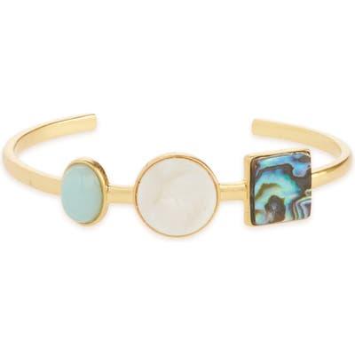 Madewell Geo-Stone Cuff Bracelet