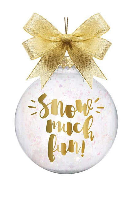 """Image of SLANT COLLECTIONS """"Snow Much Fun"""" Novelty Ornament"""