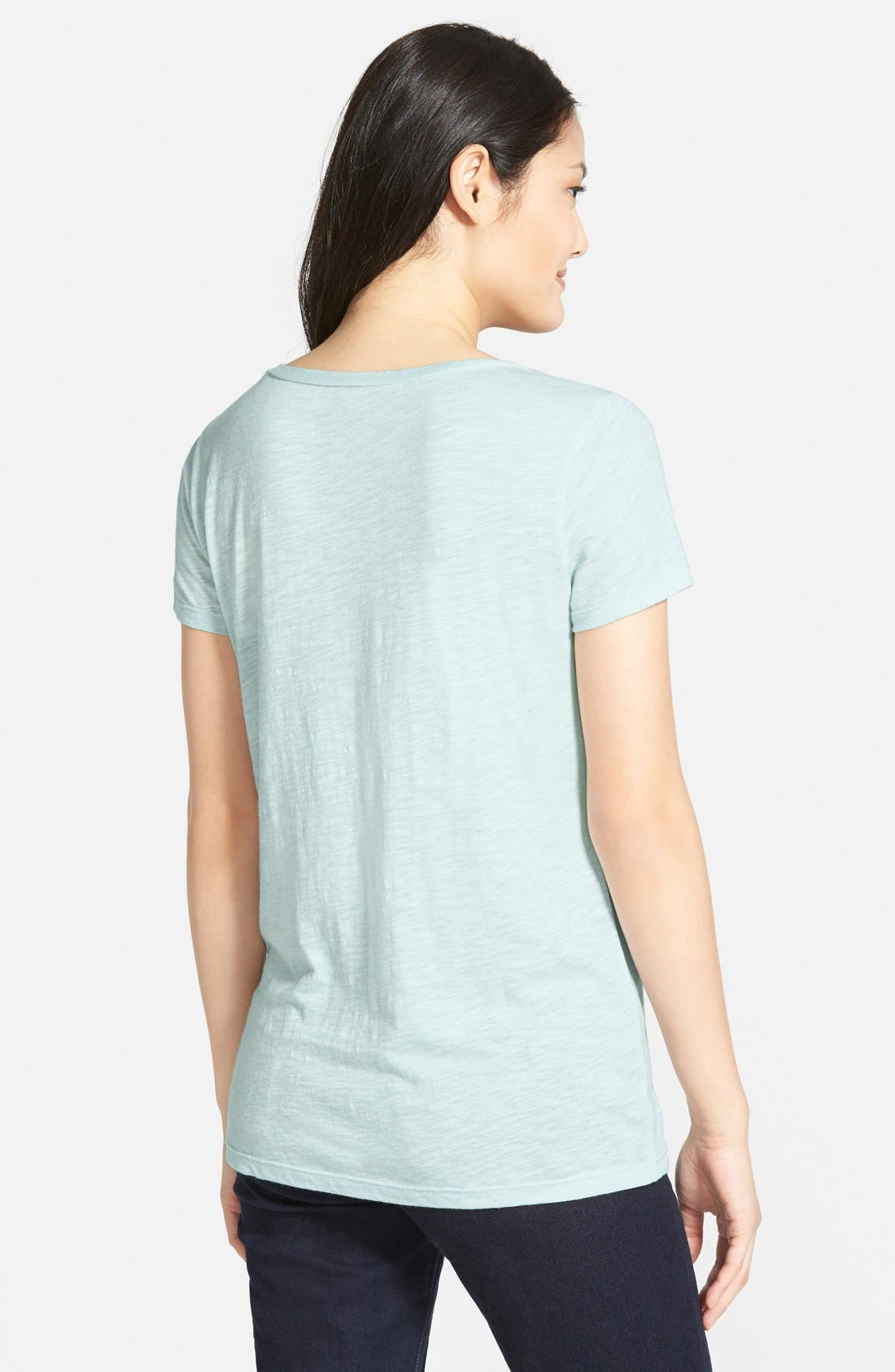 ,                             Relaxed Slub Knit U-Neck Tee,                             Alternate thumbnail 306, color,                             454