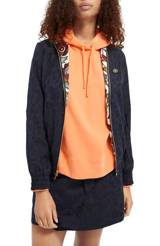 Scotch & Soda REVERSIBLE FLORAL & ANIMAL PRINT BOMBER JACKET