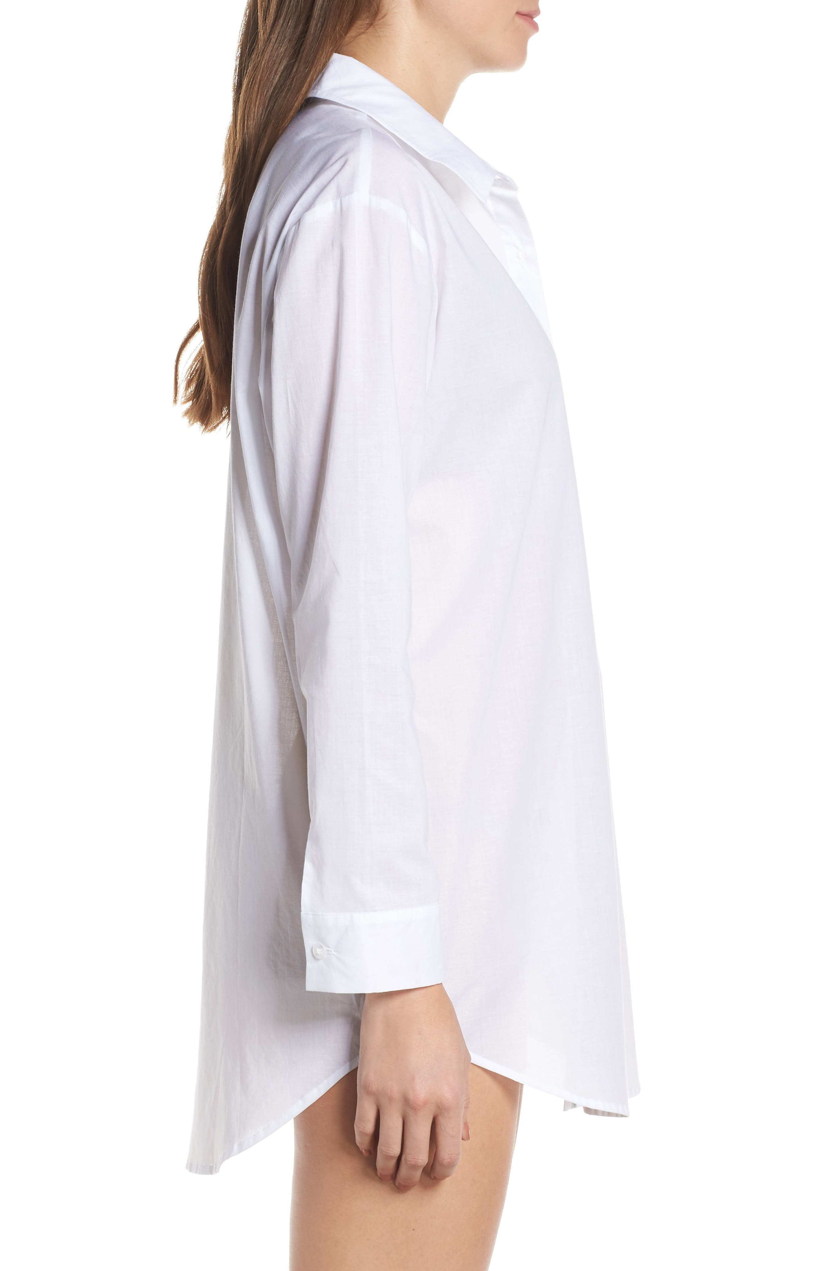 ,                             Cotton Nightshirt,                             Alternate thumbnail 5, color,                             WHITE