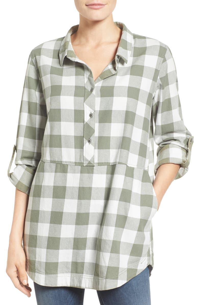 CASLON<SUP>®</SUP> Plaid Cotton Tunic, Main, color, 310