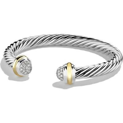 David Yurman Cable Classics Bracelet With Diamonds And 18K Gold, 7mm