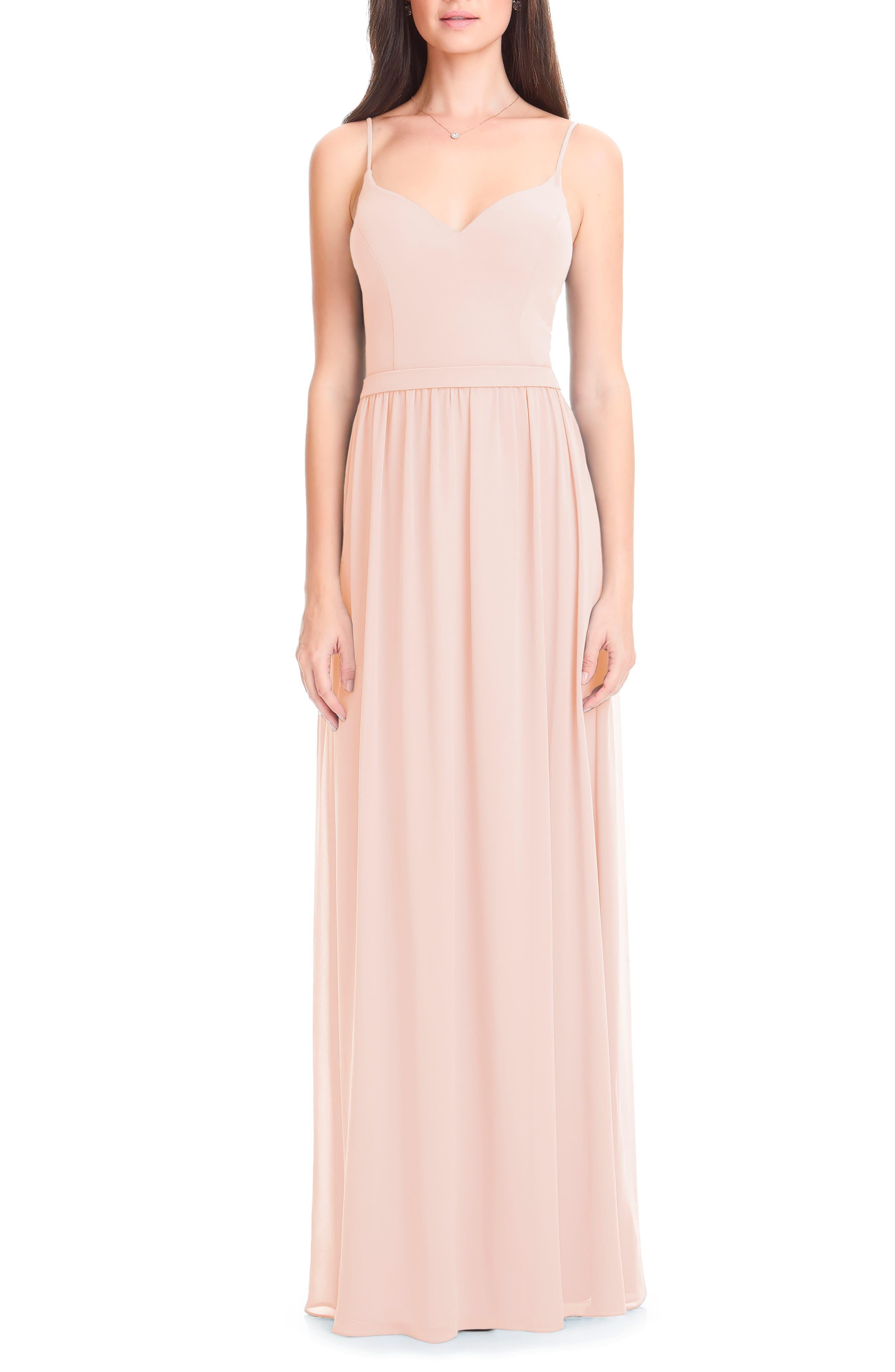 Levkoff Chiffon Gown, Pink