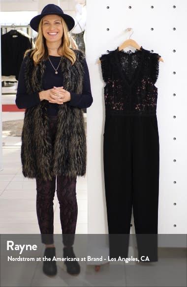 Deven Mesh & Lace Jumpsuit, sales video thumbnail