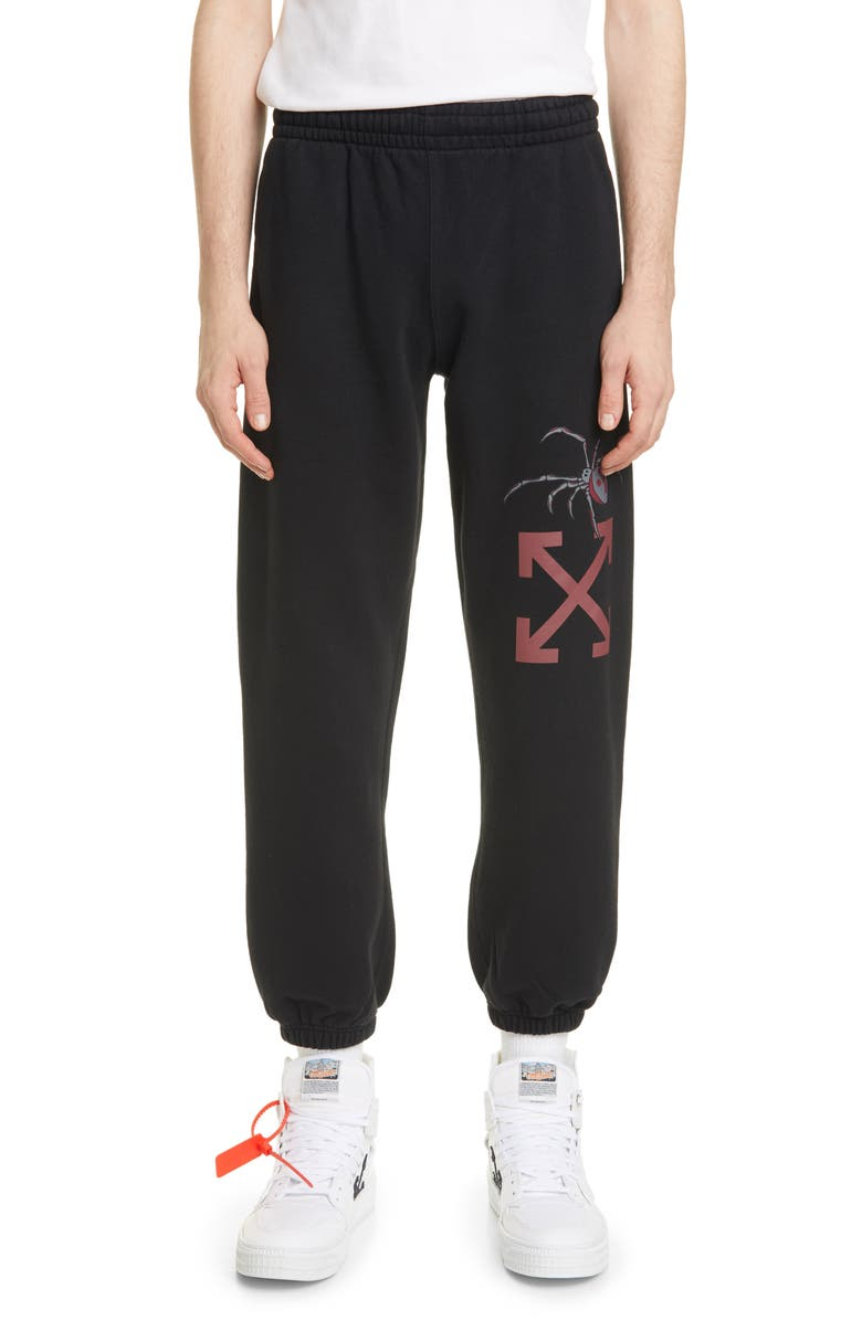 OFF-WHITE Arachno Arrow Sweatpants, Main, color, 001