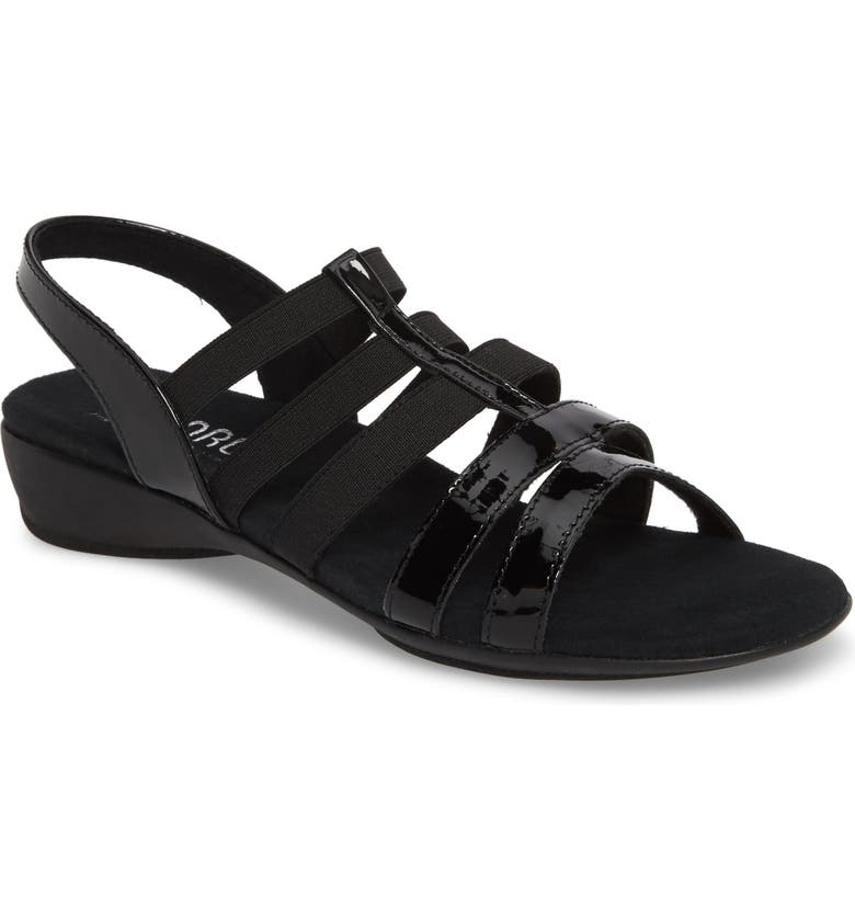 MUNRO Bev Sandal, Main, color, BLACK COMBO