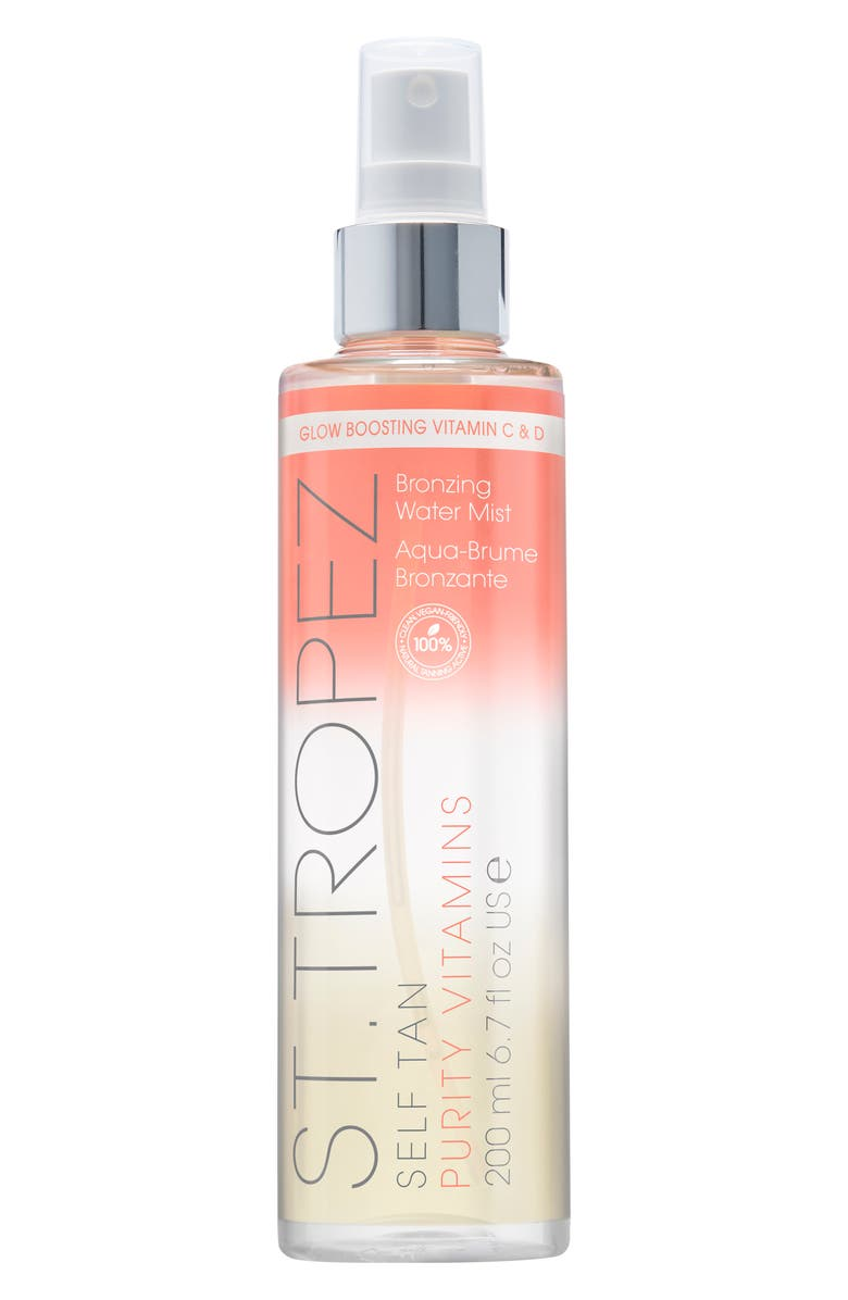 ST. TROPEZ Self Tan Purity Vitamins Bronzing Water Body Mist, Main, color, NO COLOR