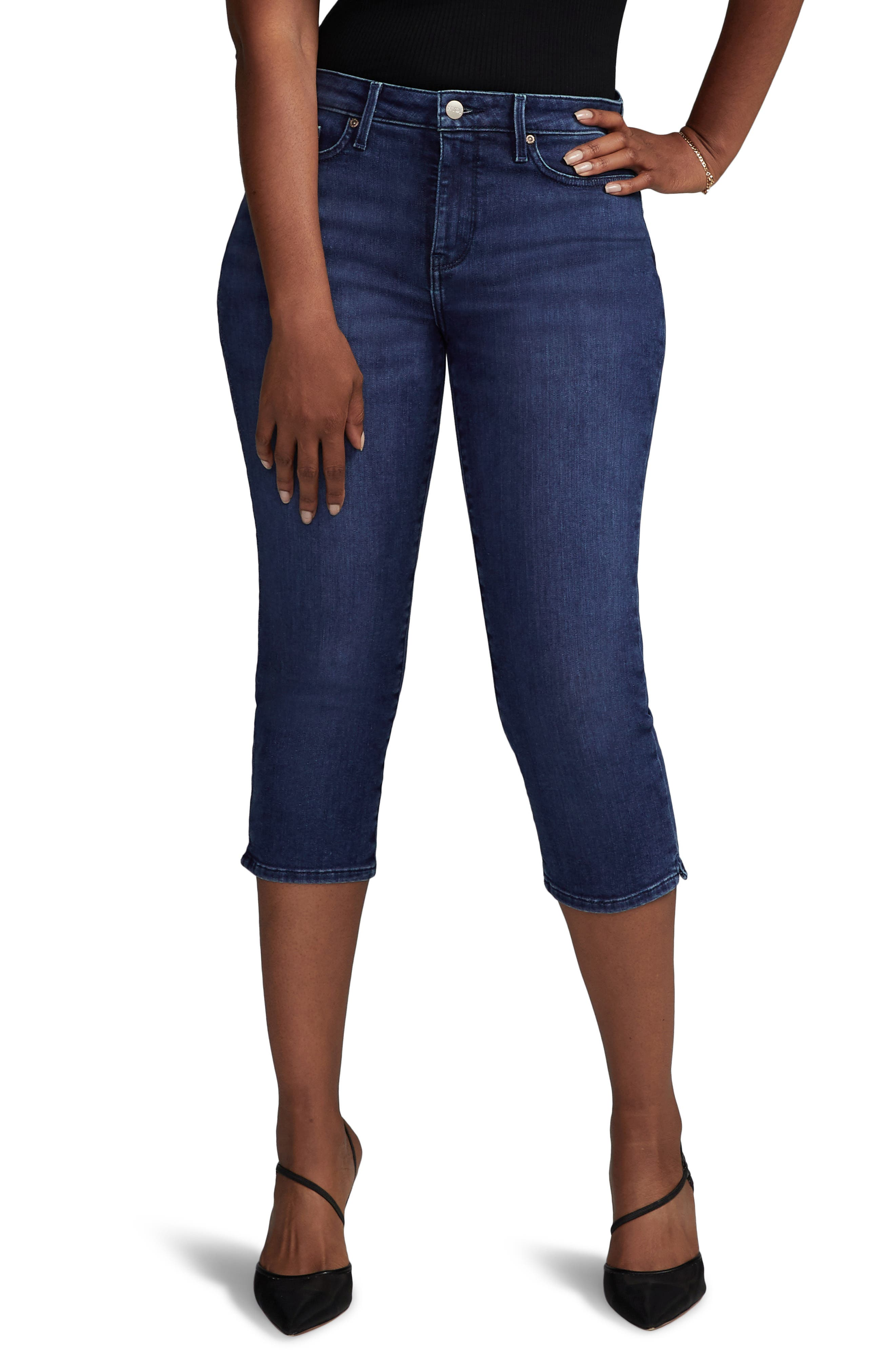 Slim Straight Capri Jeans