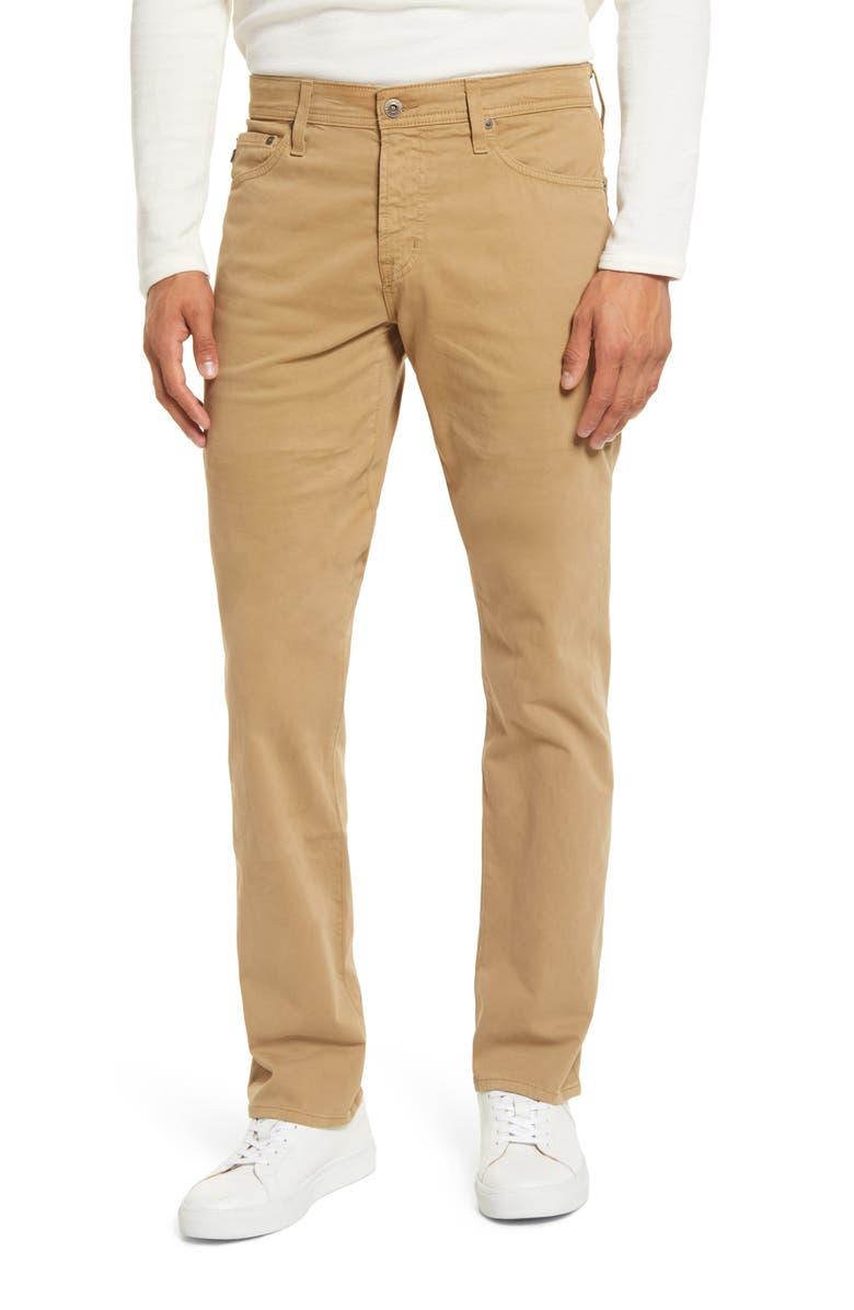 AG Everett SUD Slim Straight Fit Pants, Main, color, LANCASTER KHAKI
