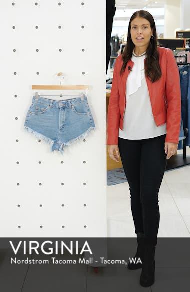 Kiri Cutoff High Waist Shorts, sales video thumbnail