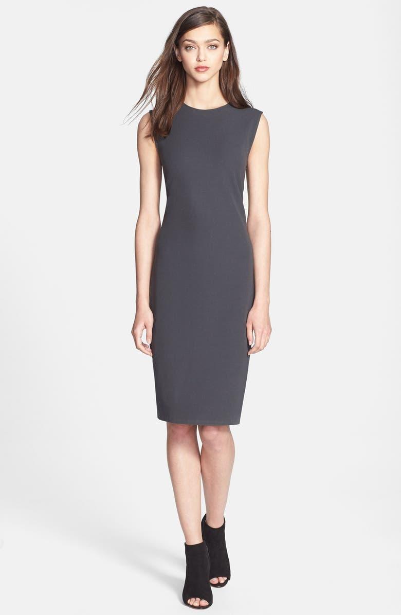 VINCE Ribbed Pencil Dress, Main, color, 019