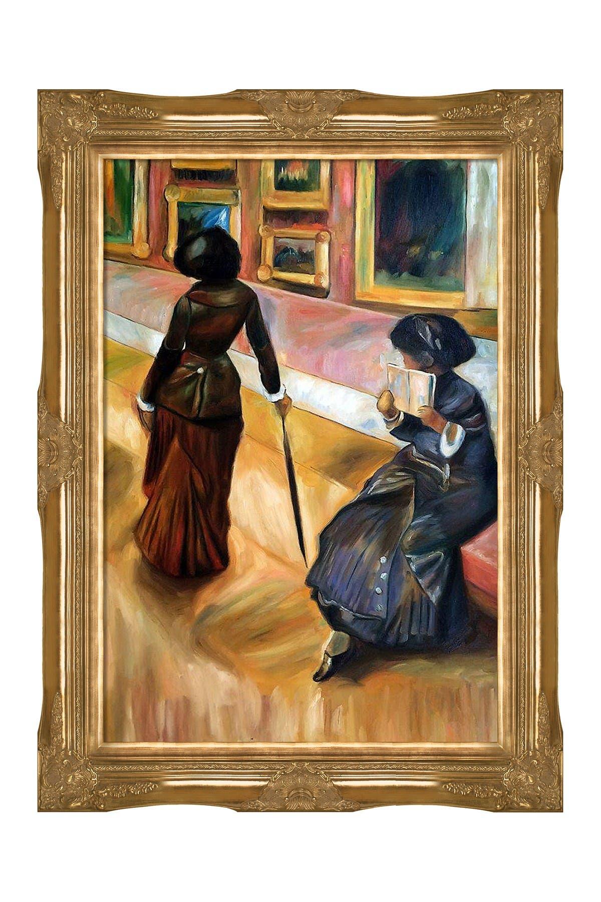 """Image of Overstock Art Edgar Degas """"Mary Cassatt At The Louvre"""" Framed Painting"""