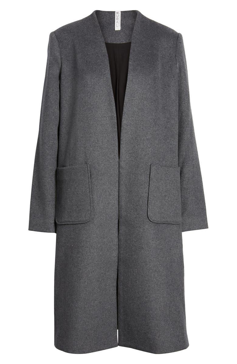 MURAL Long Open Front Coat, Main, color, 020