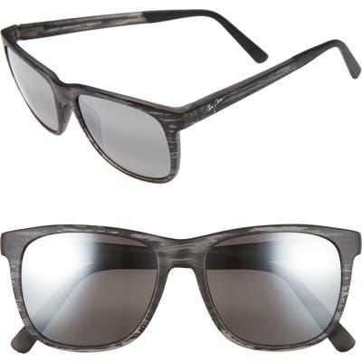 Maui Jim Tail Slide 5m Polarized Sunglasses - Matte Grey Stripe