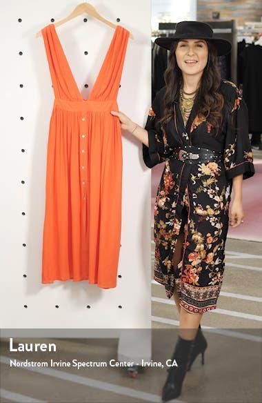 Button Cover-Up Midi Dress, sales video thumbnail