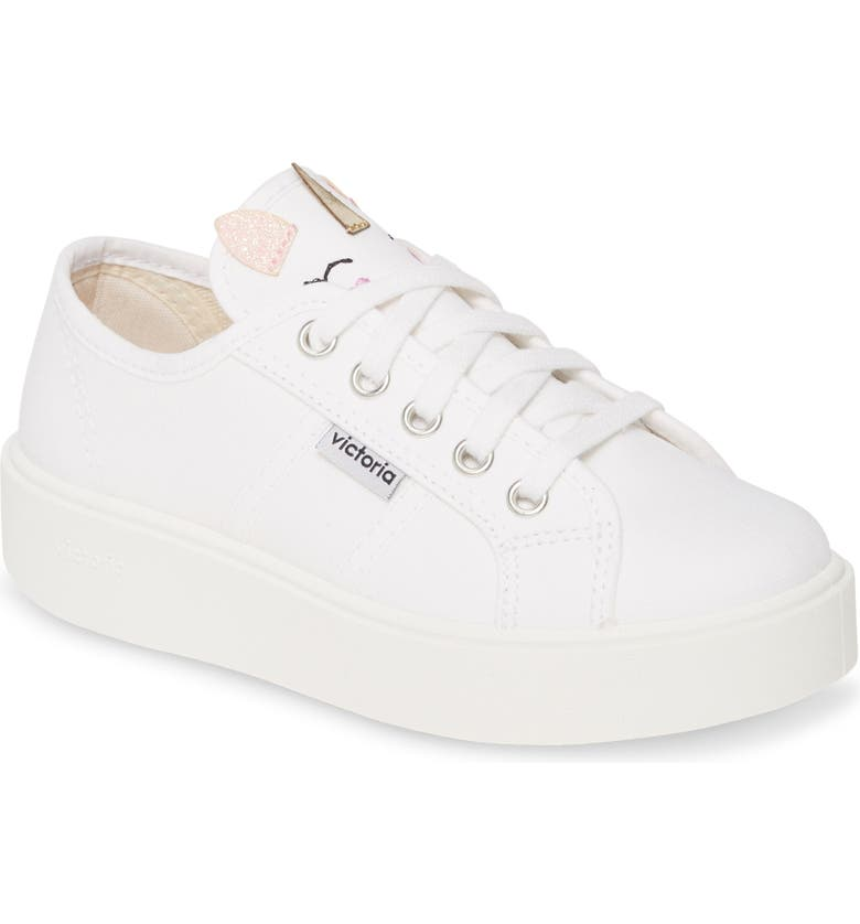 VICTORIA SHOES Utopia Lona Animales Sneaker, Main, color, WHITE