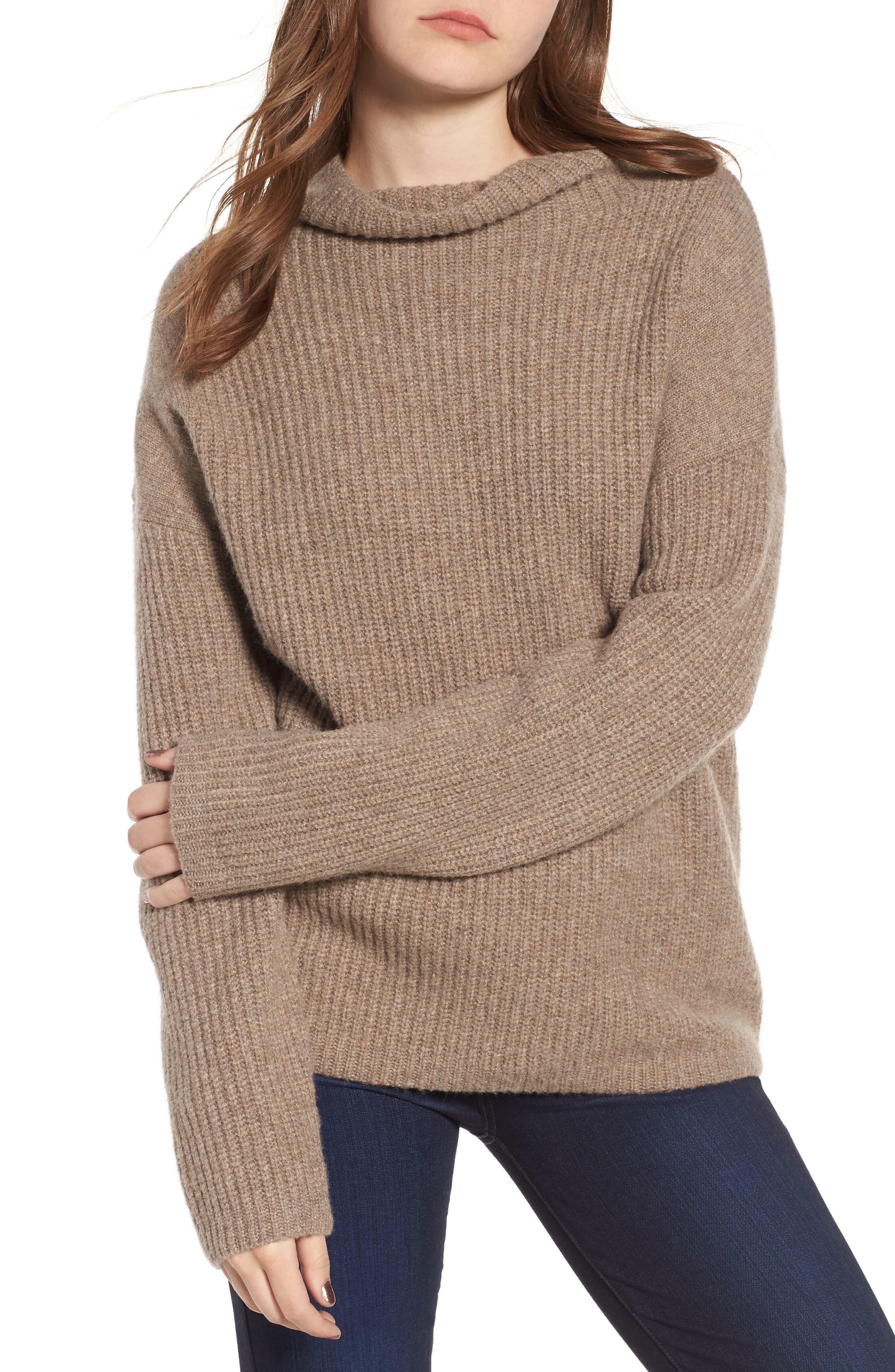 Chelsea28 Rib Funnel Neck Sweater