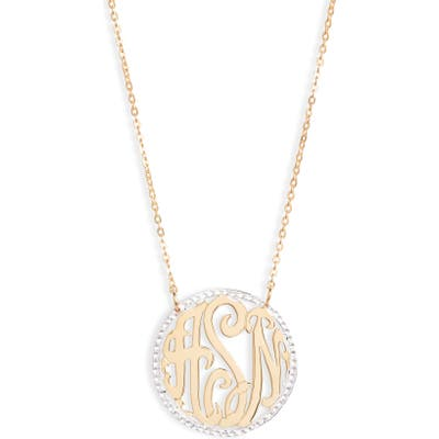 Argento Vivo Personalized Three Initial Pendant Necklace