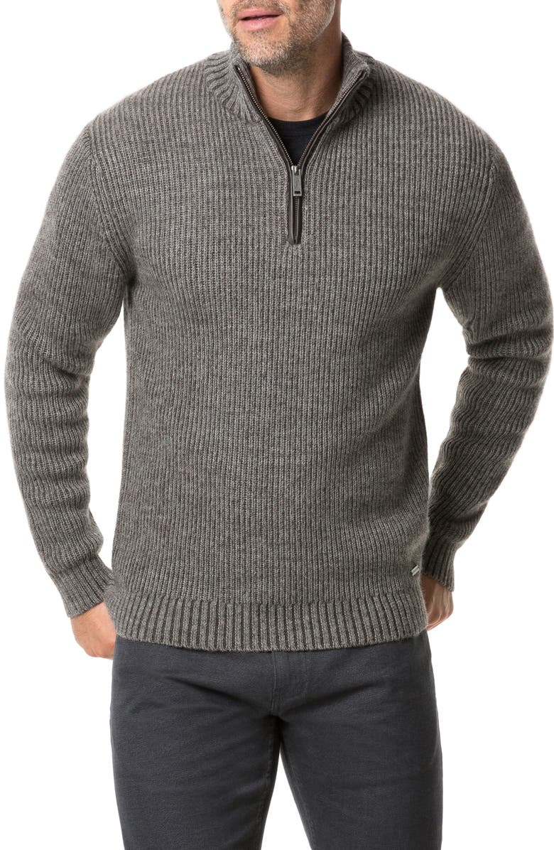 RODD & GUNN Lodge Knit Half Zip Pullover, Main, color, BARK