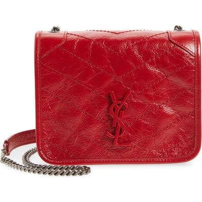 Saint Laurent Niki Leather Crossbody Bag - Red