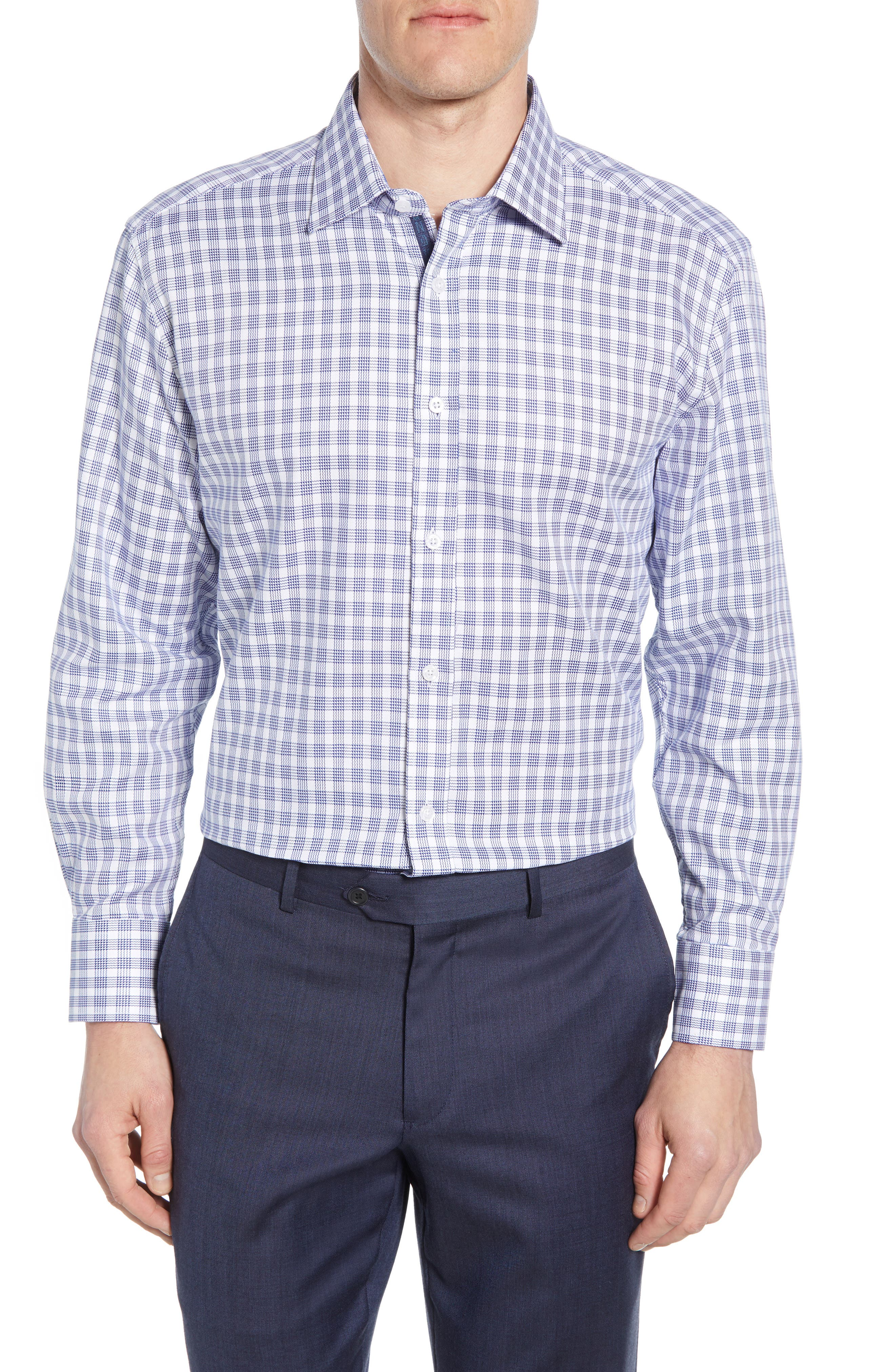 Image of English Laundry Gingham Slim Fit Dress Shirt