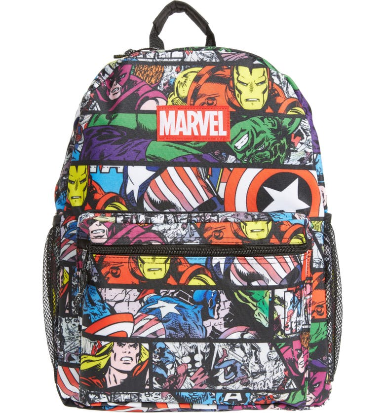 MARVEL Allover Print Backpack, Main, color, 001