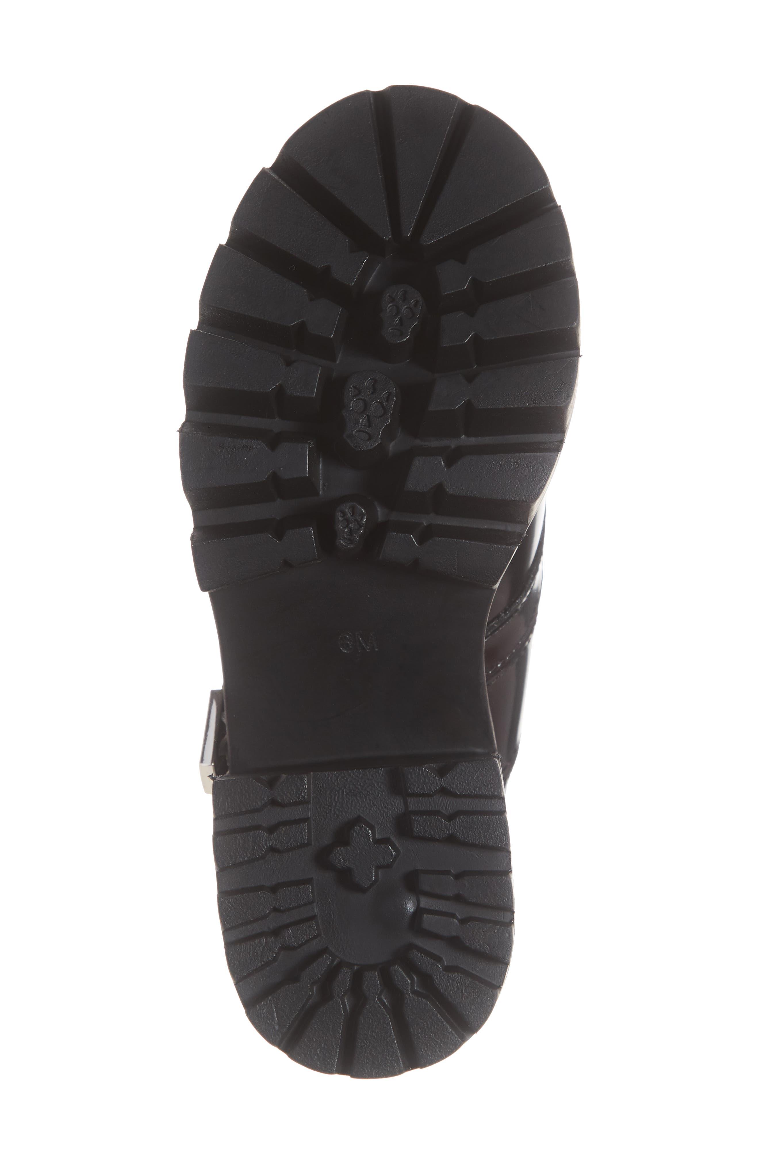 ,                             Craven Moto Platform Boot,                             Alternate thumbnail 6, color,                             BLACK LEATHER