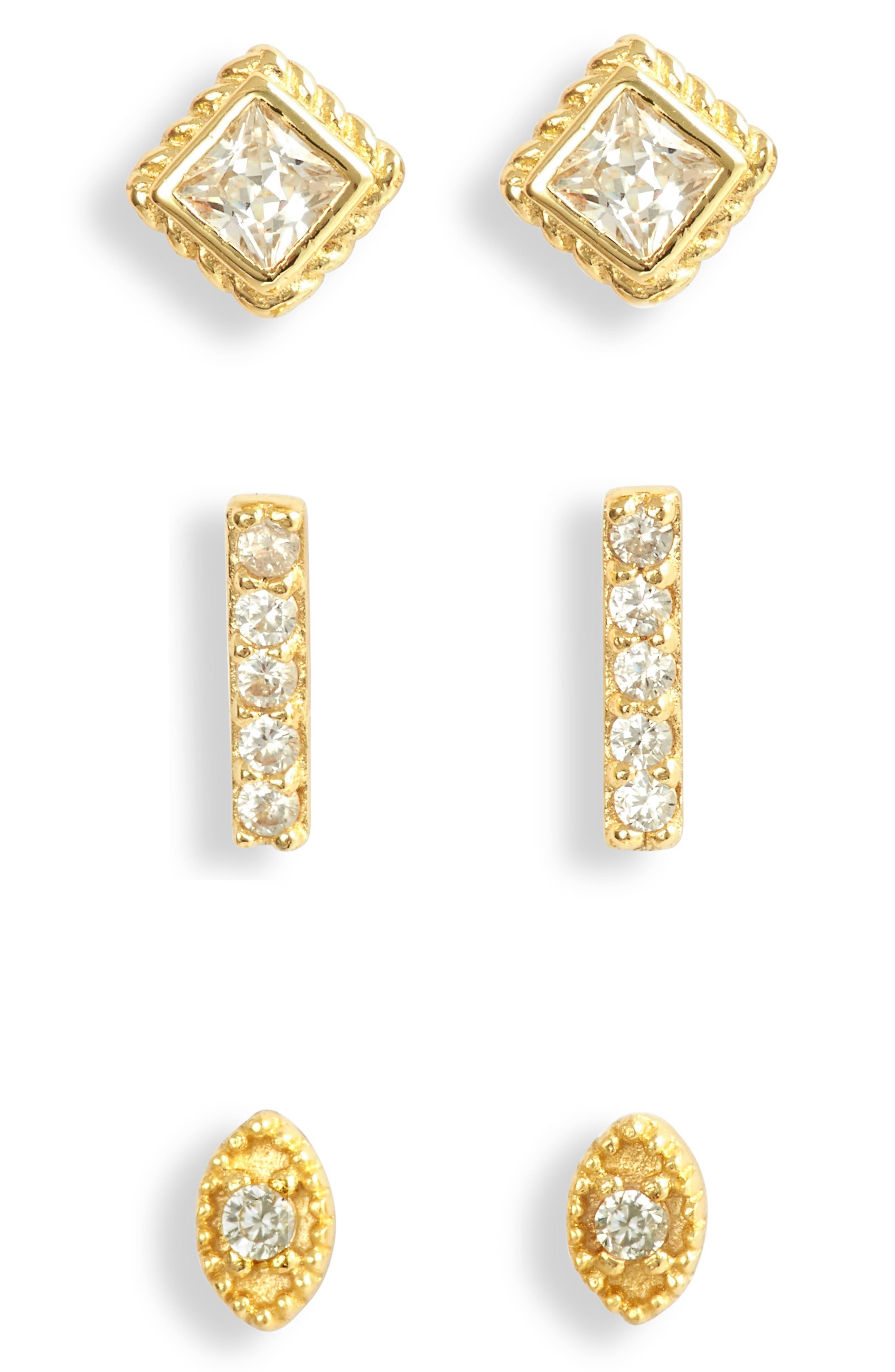 Set Of 3 Assorted Earrings