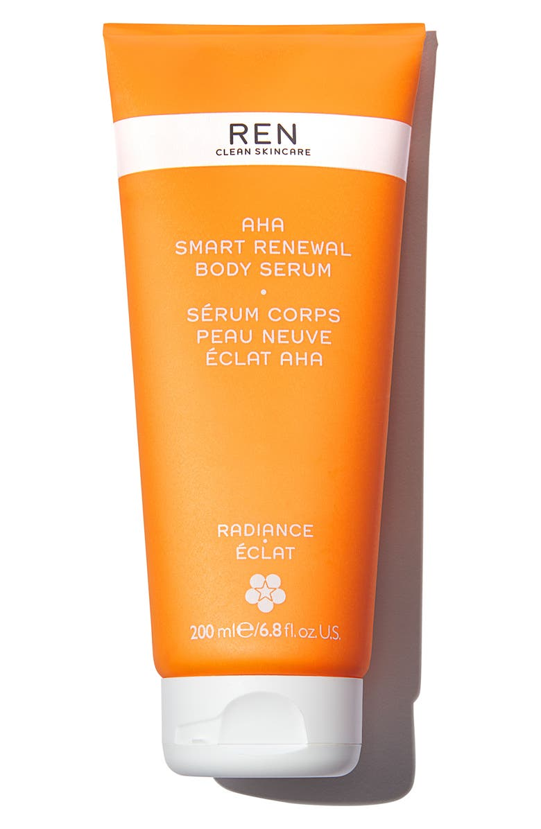 REN CLEAN SKINCARE AHA Smart Renewal Body Serum, Main, color, NO COLOR