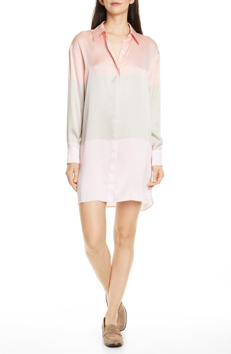 EQUIPMENT Lacene Long Sleeve Silk Shirtdress, Main, color, 650