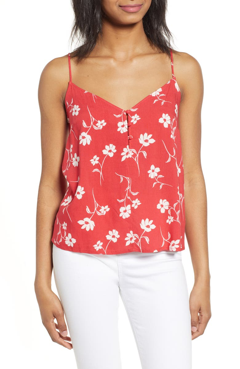 ALL IN FAVOR Floral Print Camisole, Main, color, 600