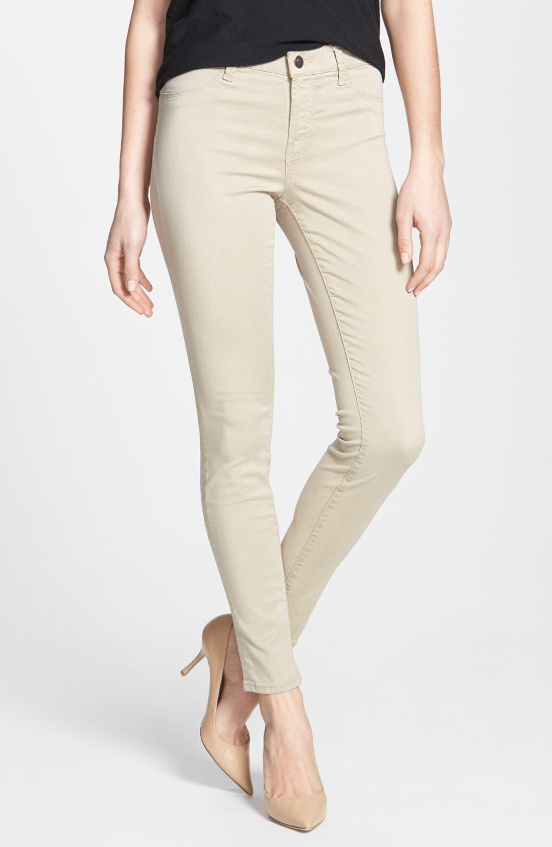,                             '485' Mid Rise Super Skinny Jeans,                             Alternate thumbnail 21, color,                             250