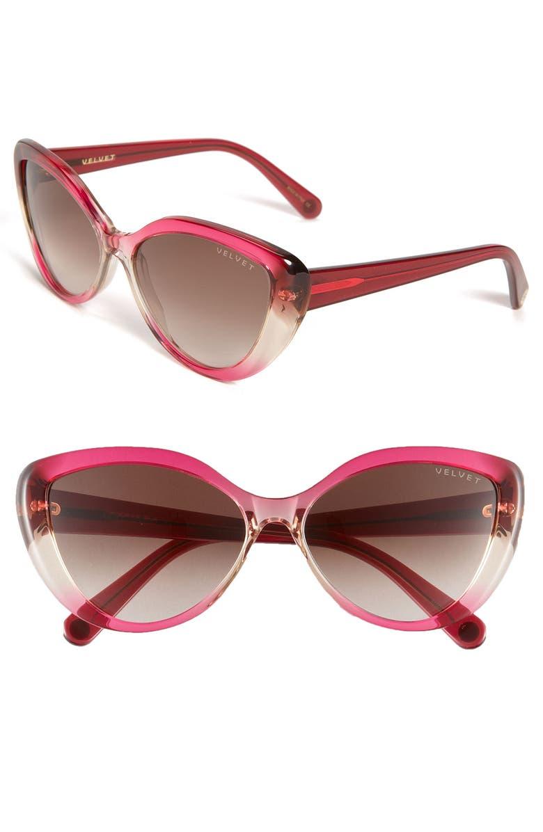 VELVET EYEWEAR 'Joie' Sunglasses, Main, color, 650
