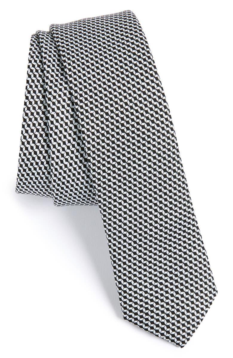 TOPMAN Geometric Woven Tie, Main, color, 001