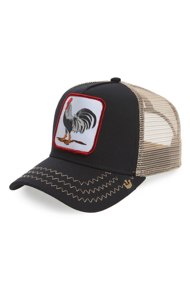 GOORIN BROS. Animal Farm Trucker Hat, Main, color, BLACK