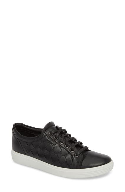 Image of ECCO Soft 7 Leather Woven Sneaker