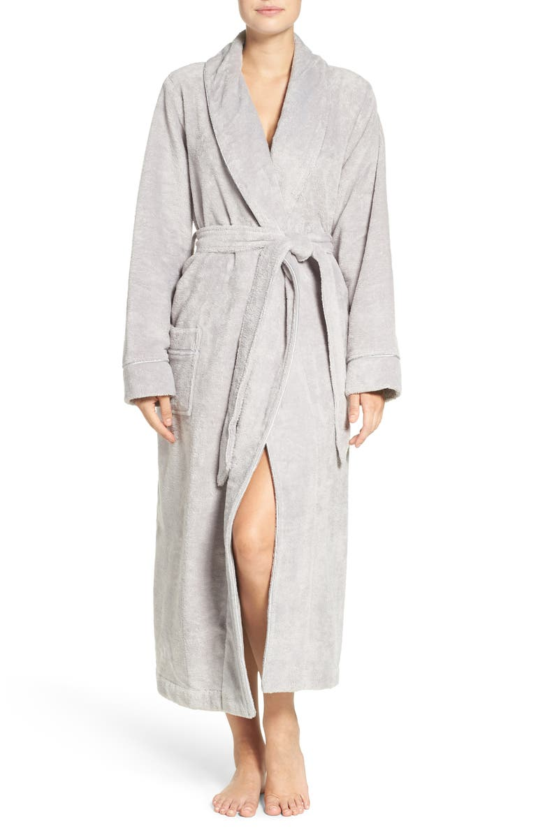 NORDSTROM Terry Velour Robe, Main, color, 050