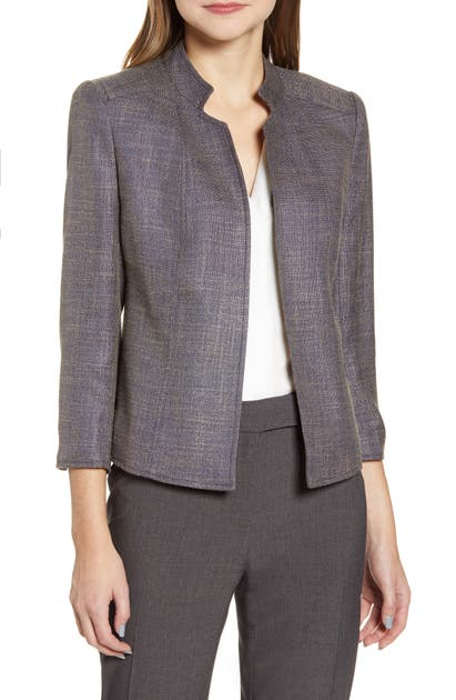 Anne Klein Jackets TWEED STAND COLLAR CROP JACKET
