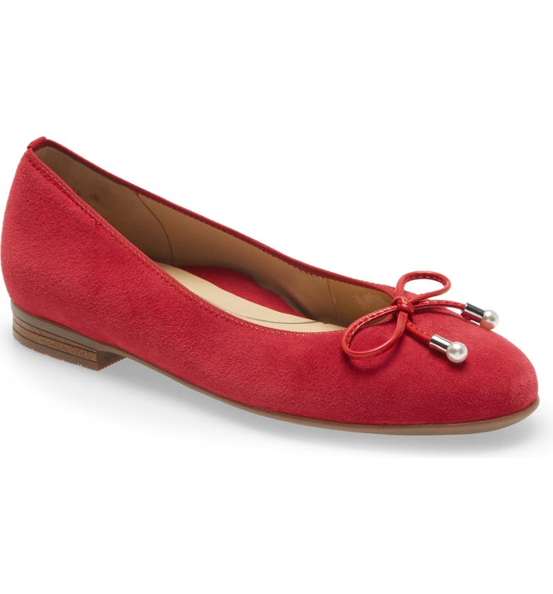 ARA Scout Flat, Main, color, RED SUEDE