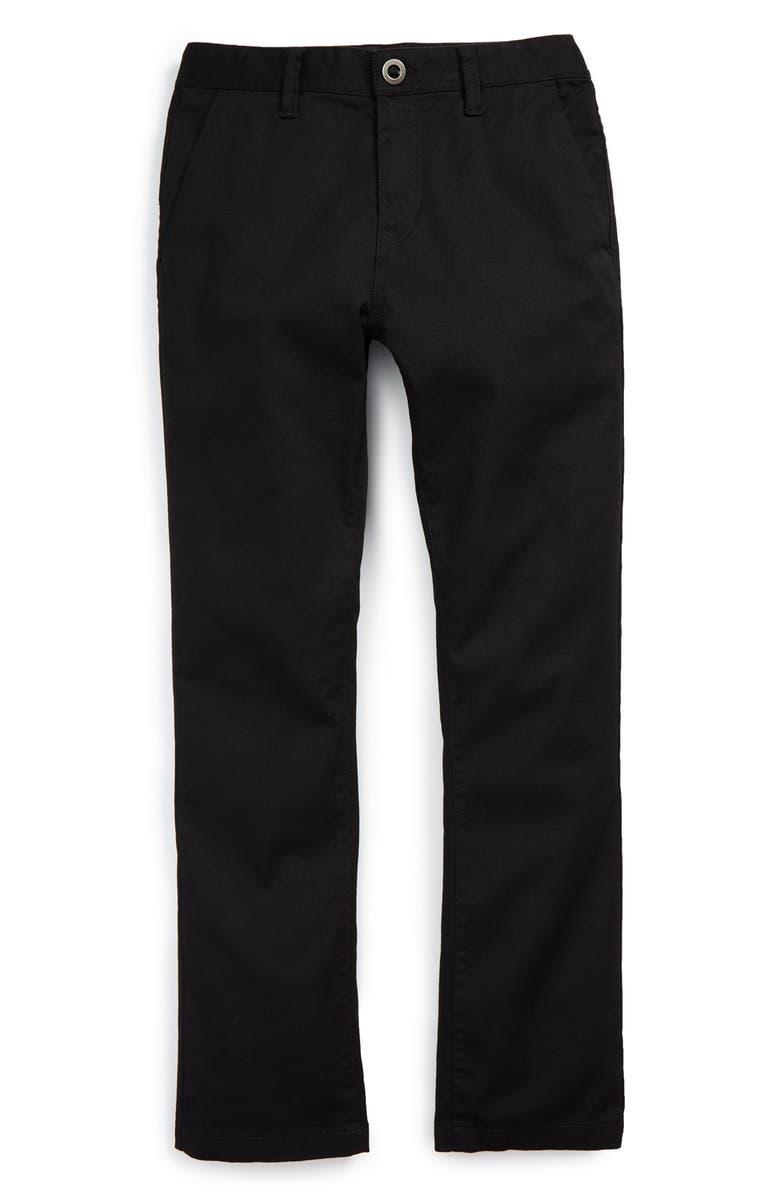 VOLCOM Modern Stretch Chinos, Main, color, BLACK