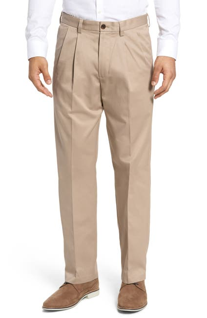 Image of NORDSTROM MEN'S SHOP 'Classic' Smartcare(TM) Relaxed Fit Double Pleated Cotton Pants