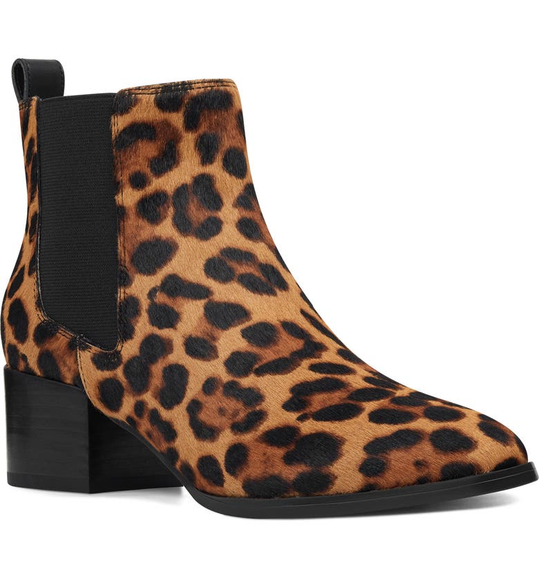 NINE WEST Colt Genuine Calf Hair Chelsea Boot, Main, color, LEOPARD PRINT CALF HAIR