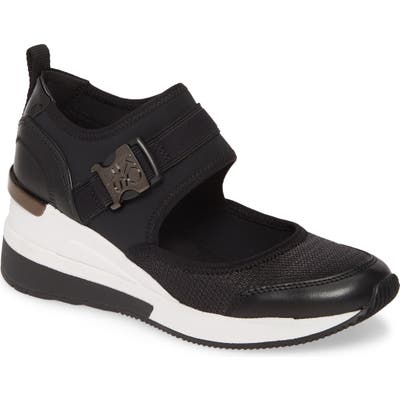Michael Michael Kors Effie Mary Jane Wedge Sneaker- Black