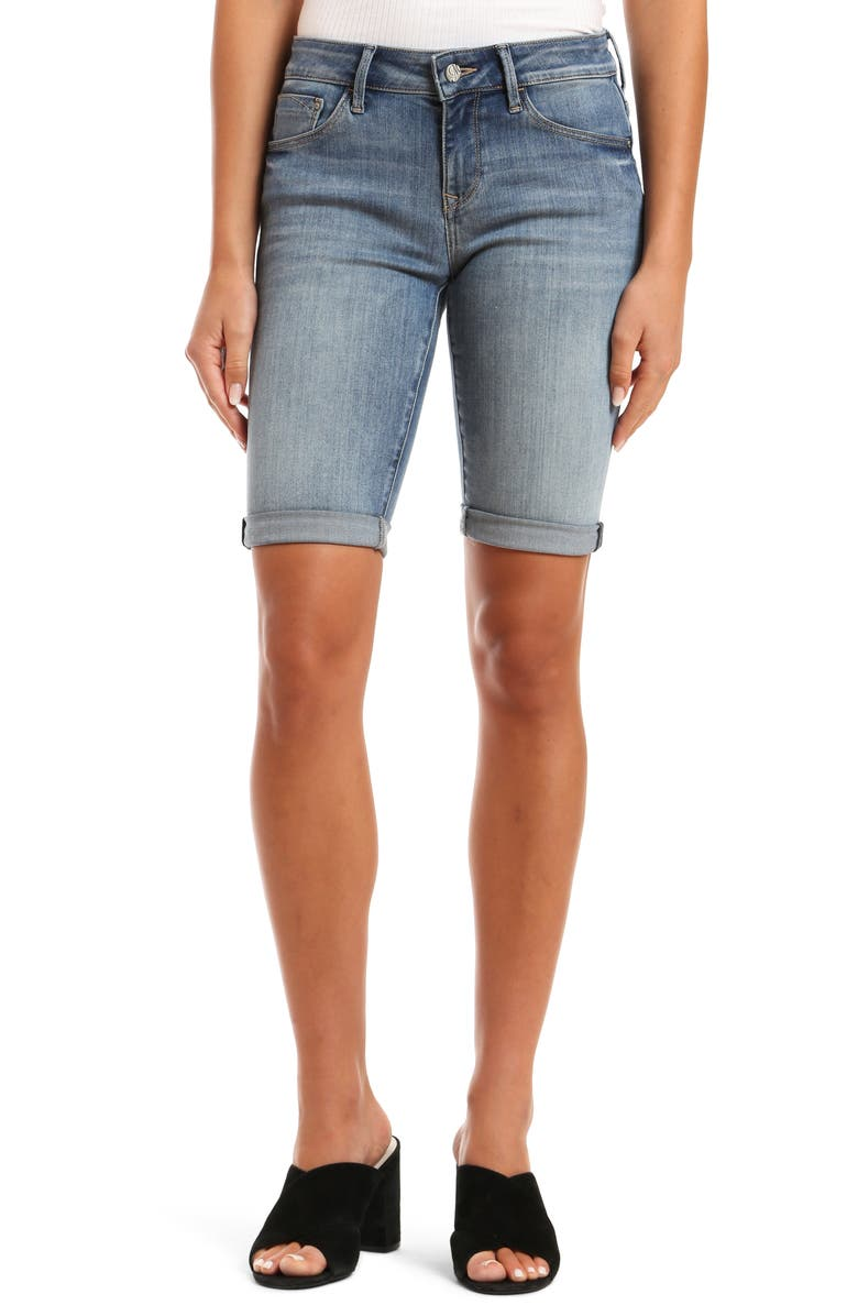 MAVI JEANS Karly Denim Bermuda Shorts, Main, color, 420