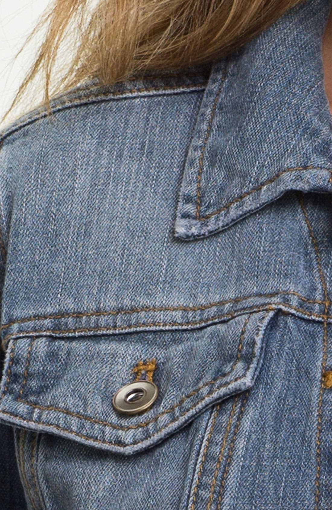 ,                             Basic Denim Jacket,                             Alternate thumbnail 2, color,                             400