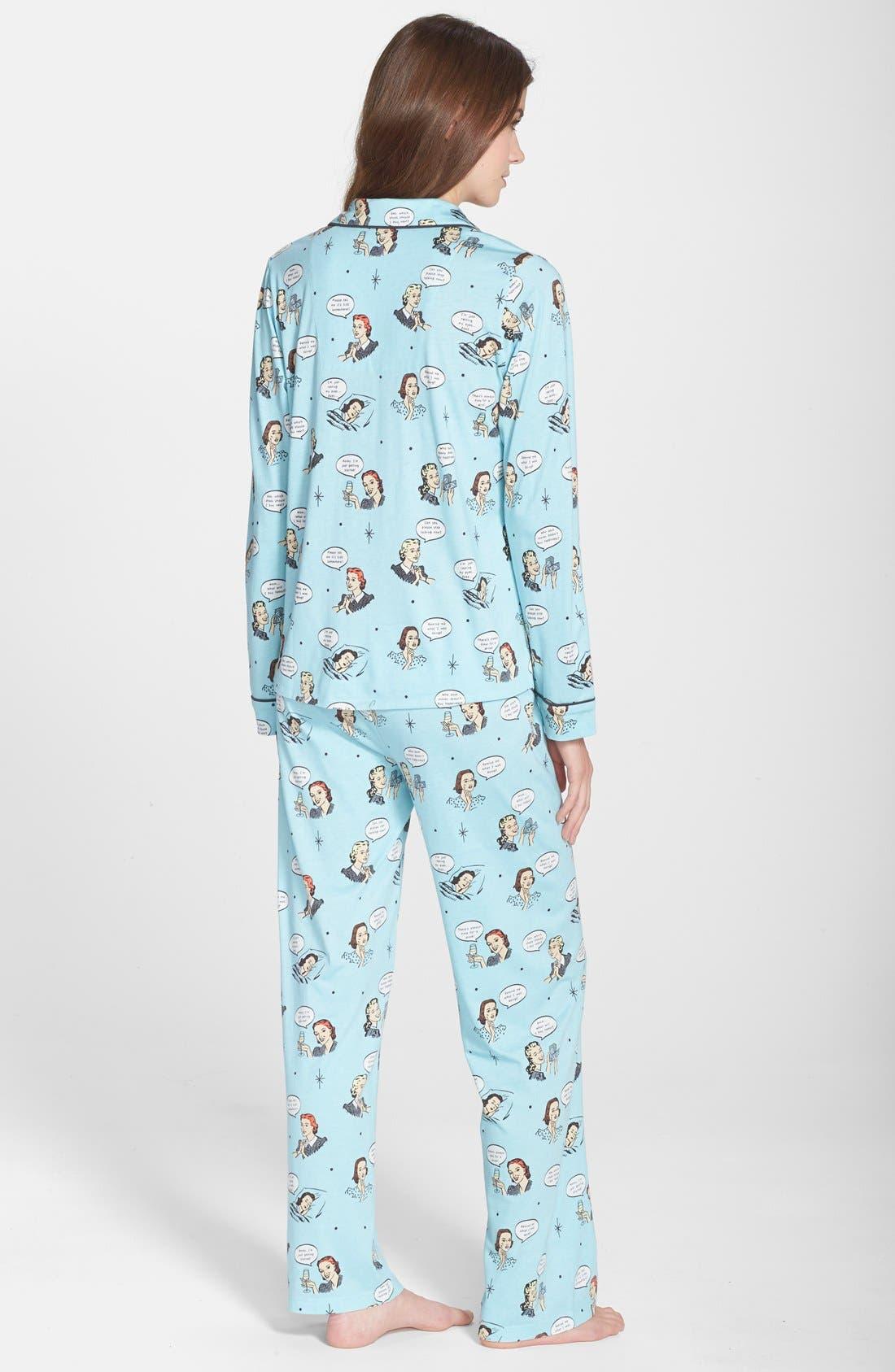 ,                             Print Jersey Pajamas,                             Alternate thumbnail 26, color,                             440